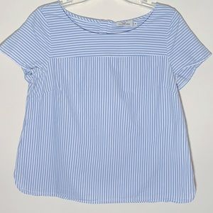 Vineyard Vines Seamed Oxford Stripe Top